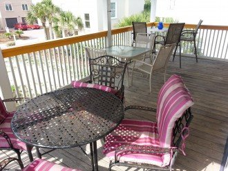 2 XL decks, 3 sets Patio furniture on ea, Gulf Views, 15 second walk to beach