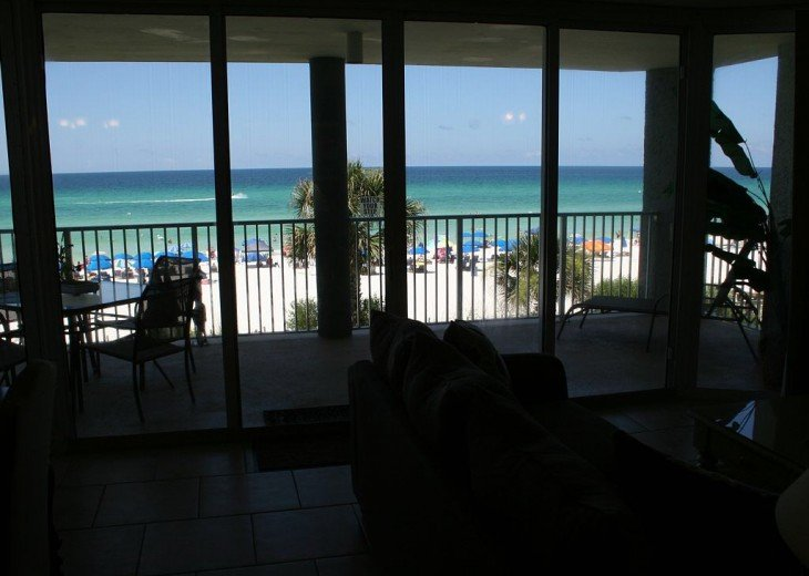 View of gulf from kitchen
