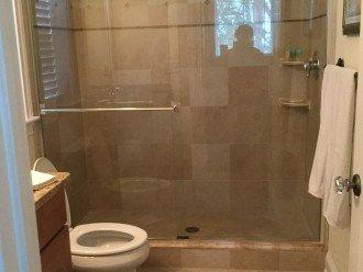 Full bath and walk in shower off ground floor bedroom