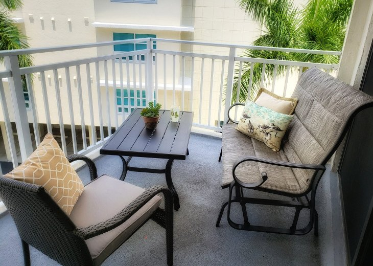 We just purchased all new balcony furniture for unit 402 guests!
