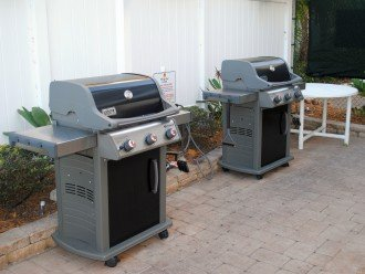 Weber Grills for guests to use.