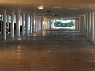 Under the building parking garage, with secure elevator access.