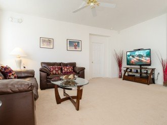 Family room with 50 inch smart TV