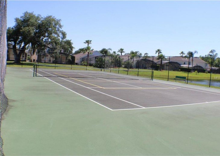 On site tennis courts