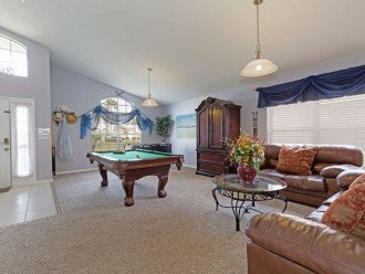 Den pool and football table with reading nook and games