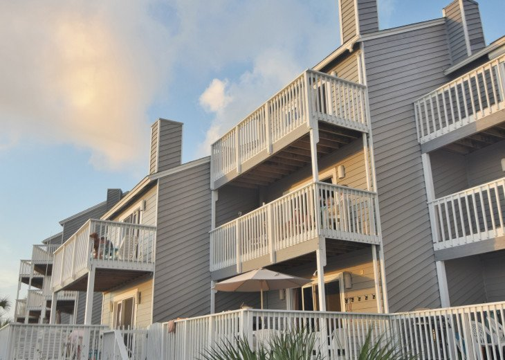 Our home is center and steps away from the boardwalk to the beach.