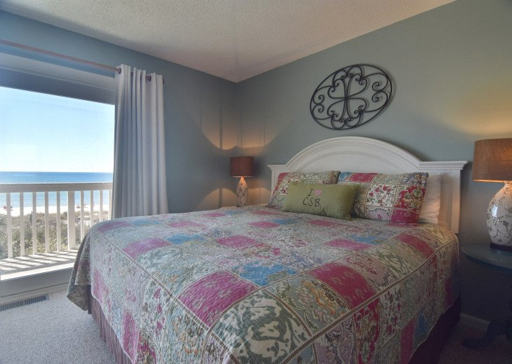 2nd king size bed w/ beach side balcony and private bath.