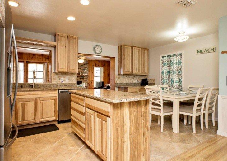 Kitchen plus dinning area.