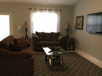 Living Room With 60 Flat Screen TV