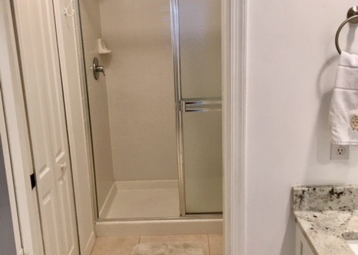 Shower in master bedroom