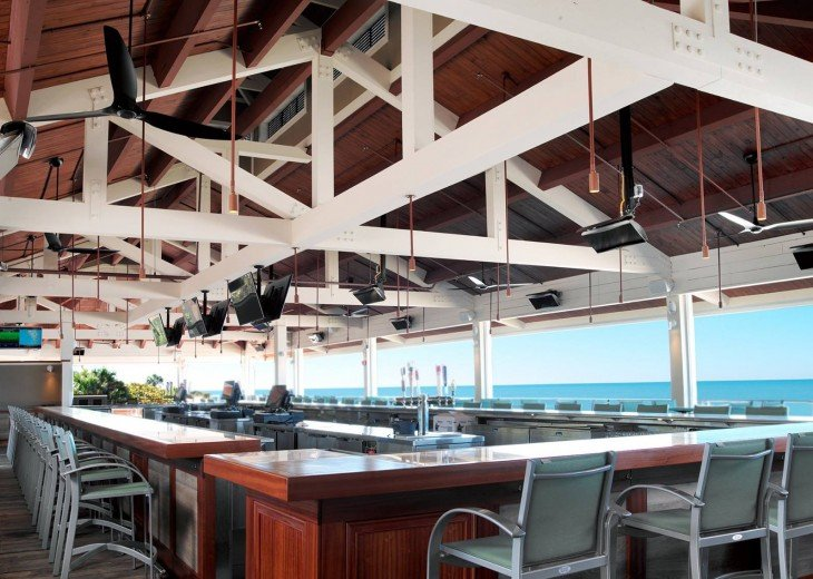 Private beachside bar/restaurant in Pelican Bay
