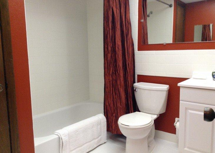 Upstairs shower/tub.