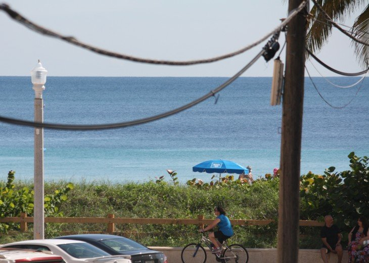 A partial ocean view from the bedroom