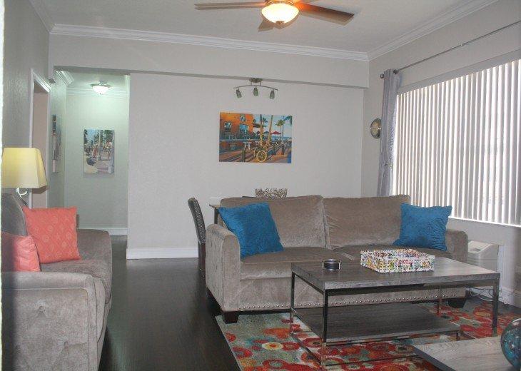 Modern upscale furnishings with queen size sleeper sofa