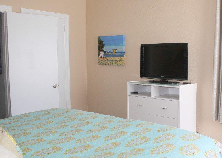 Second flat screen tv in bedroom