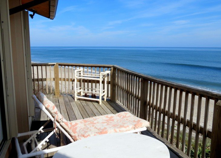 Enjoy an awesome beach and ocean view from your deck. Looking North.
