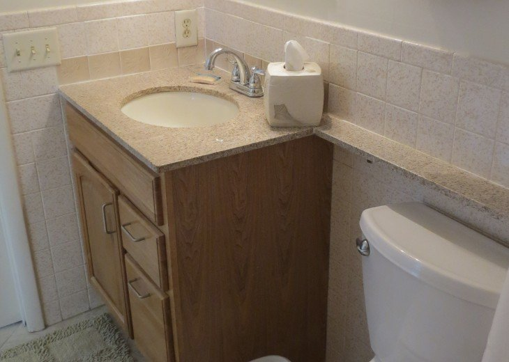 Full Bath With Toilet, Sink, Tub and Shower