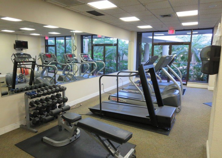 Gym for some exercise on 1st floor next to office in Building 3