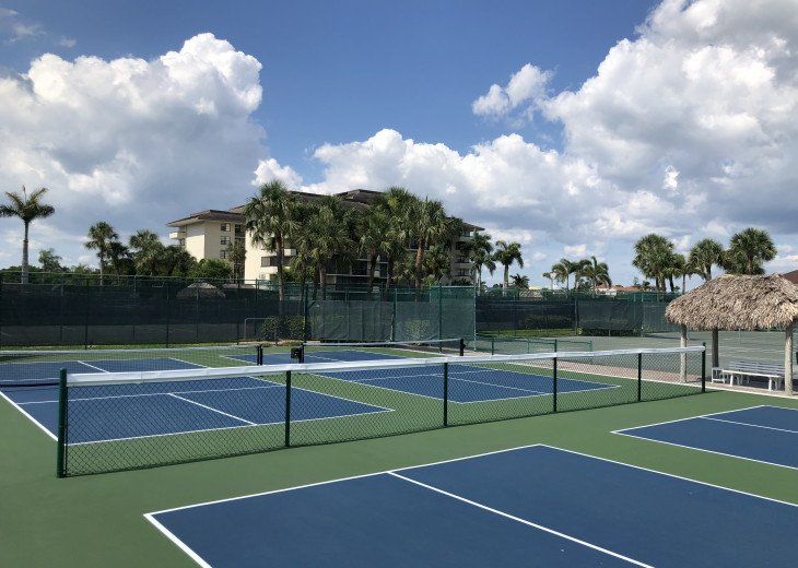 8 new Pickle ball courts with everything you need to play.