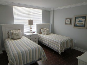 2nd bedroom with 2 double beds that can be put together to make a King Bed
