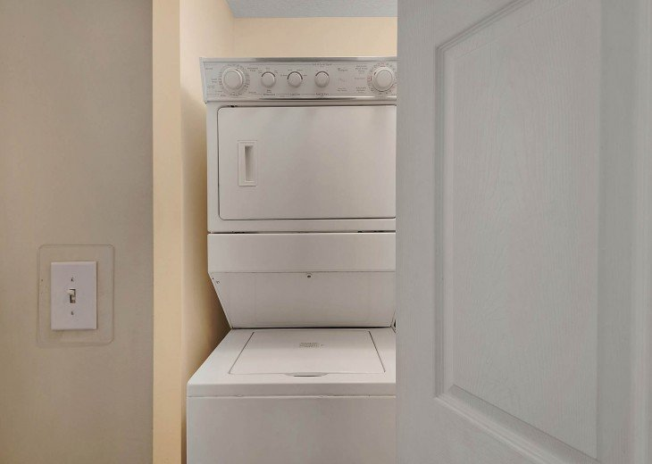 Washer/dryer inside the condo!