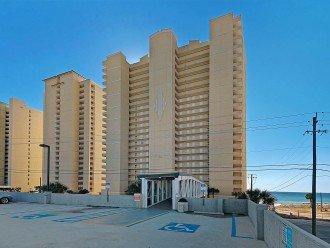 Ocean Villa Condos from 3rd level of parking