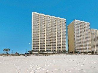 Ocean Villa condos from waters edge