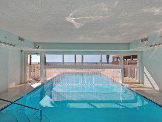 Indoor/Outdoor pool and view of the gulf
