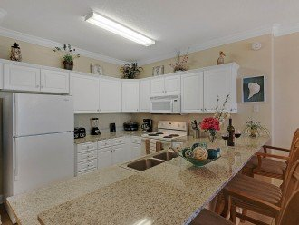 Cook on vacation? Why not? Everything you need is here and there's a gulf view!