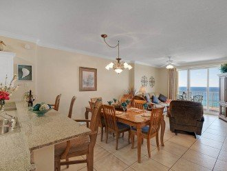 Wow! There's a gulf view from the kitchen!