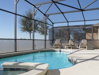 South facing pool and spa - with privacy screen