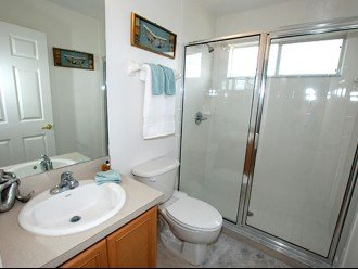 Queen bathroom - includes double shower/toilet and sink