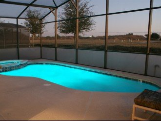 Pool area - colour changing lights