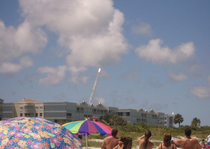 Rocket Launch as seen from our beach