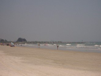 Cape Canveral Beach, just outside our private entrance