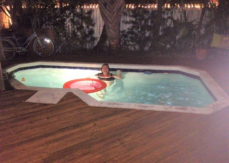 Nighttime Swim in the Heated Pool