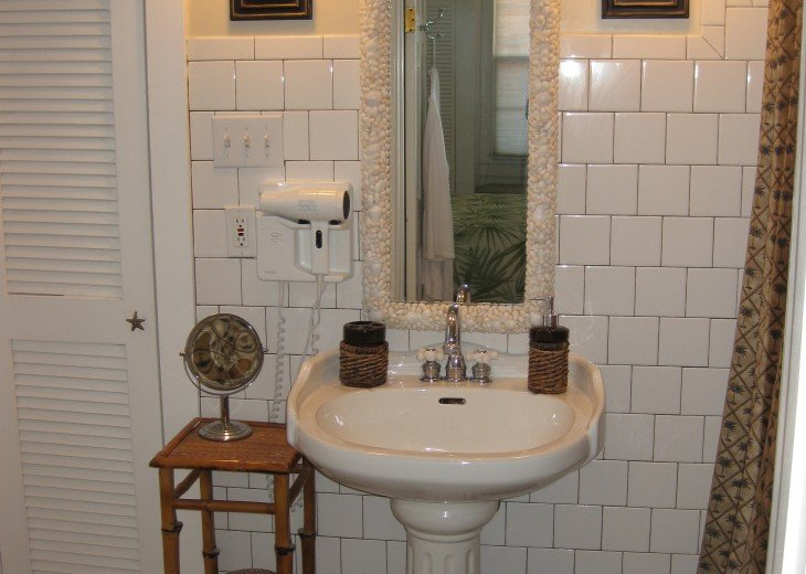 En Suite Master Bath with Shell Mirror