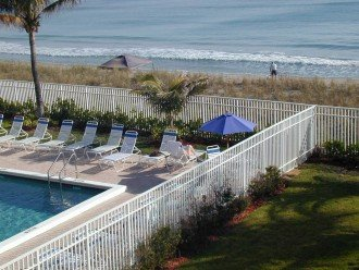 Another look at the pool and beach from the Balcony of suite 307.