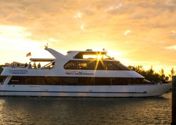 Go on a Sunset Dinner Cruise Aboard the Marco Island Princess