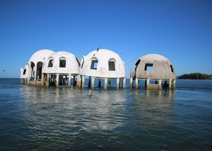 See The Cape Romano Dome Houses by Boat, Craigcat, or Jet Ski