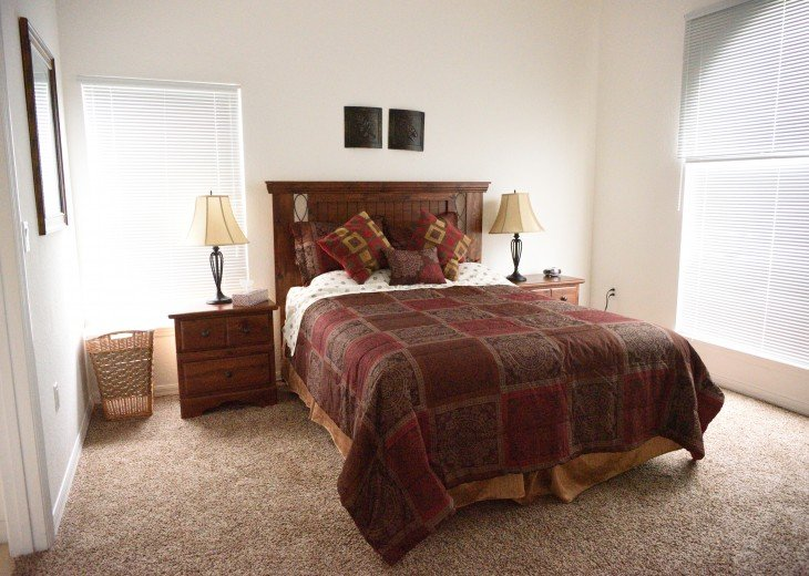 Front master bedroom with queen size bed