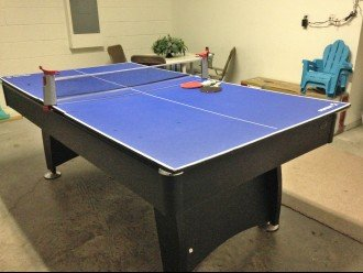 Table tennis table (incl pool table under table tennis table) in garage