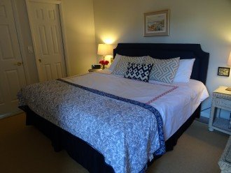 The master bedroom has a comfortable king size bed and private ensuite bathroom.