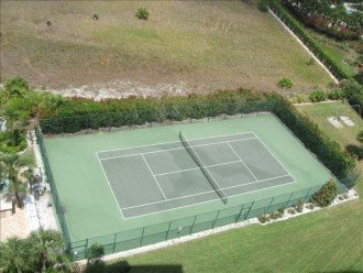 Tennis courts are on property