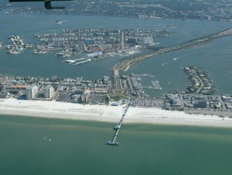 clearwater beach, aerial picture