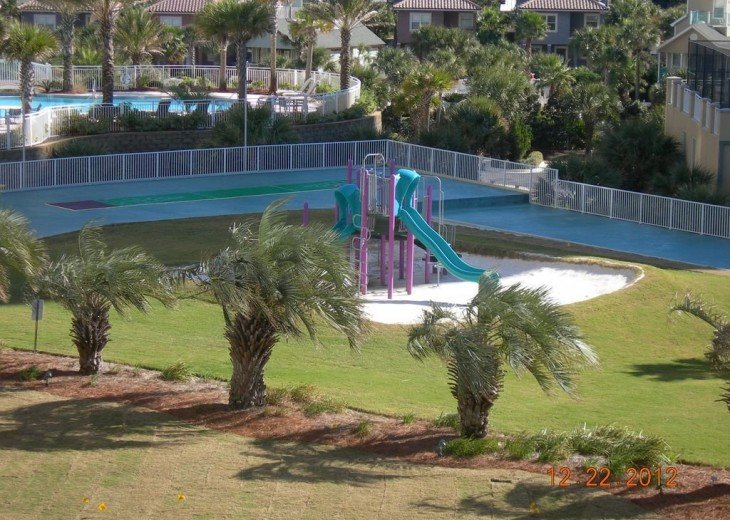 View of the playground from your balcony