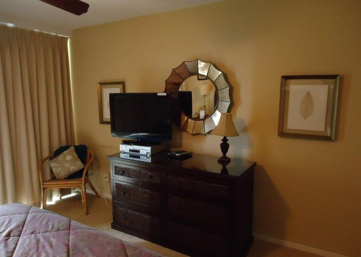 "Master bedroom with 32"" TV and DVD player"