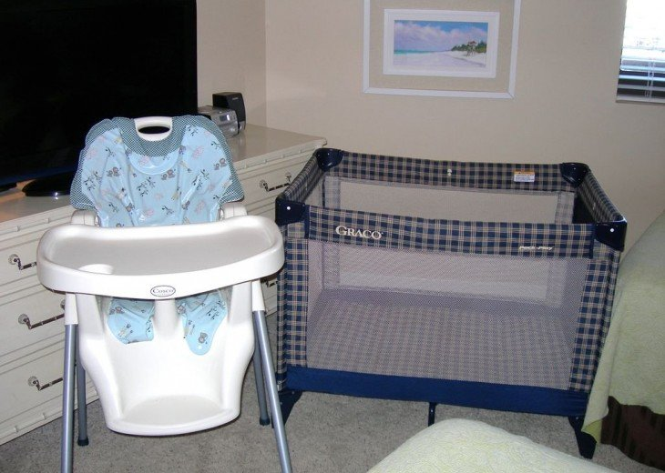 Pack n play and high chair for the little ones