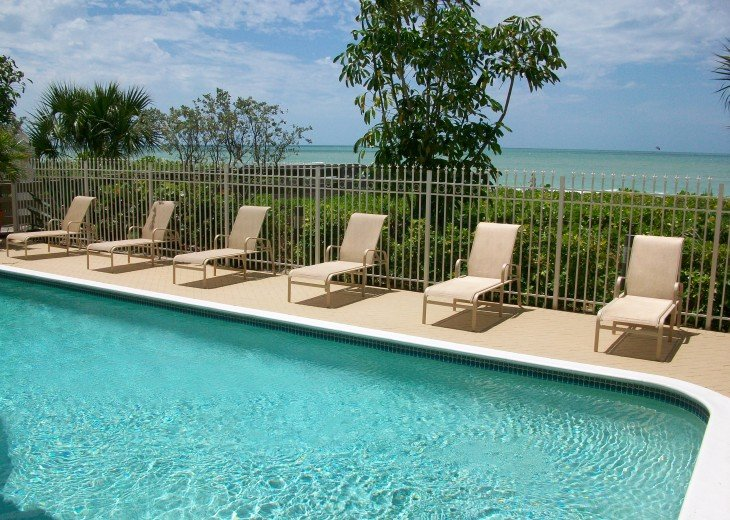 Heated Beach front pool