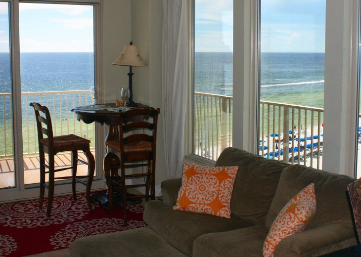 View from our Great room of Gulf of Mexico & Beach